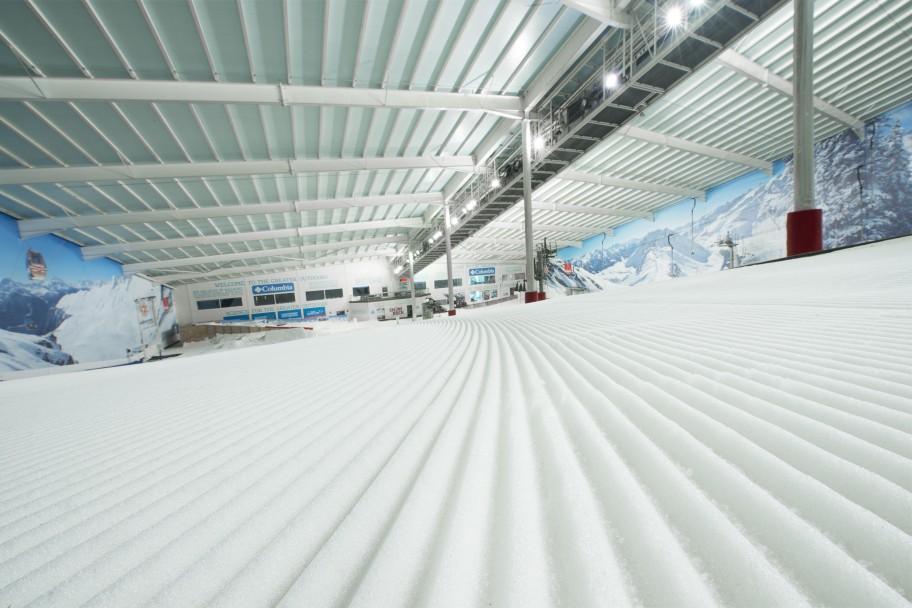 Indoor snow dome
